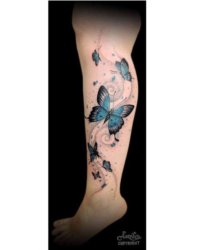 Tatuaz Motyl Kolorowe Wzory Na Nadgarstek Kark I Plecy Tattoos Watercolor Tattoo
