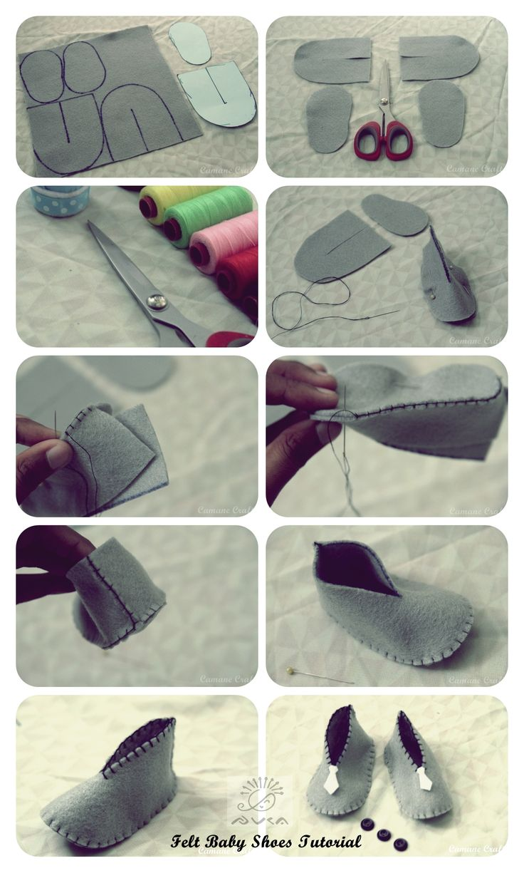 DIY Baby Shoes: could be repurposed as minimal adult shoes by adding a more durable sole