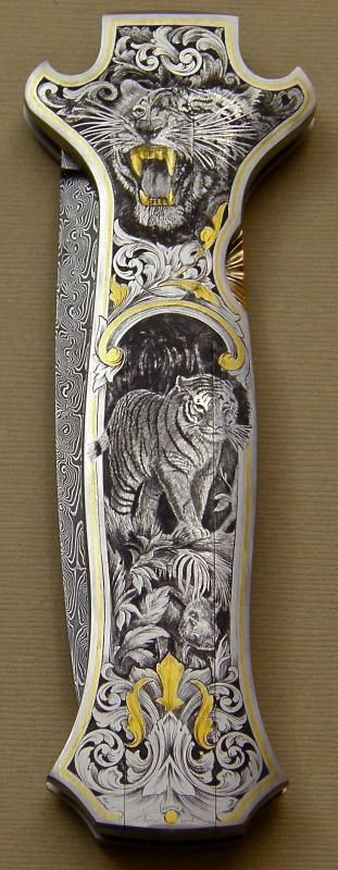 The Engraver's Cafe - The World's Largest Hand Engraving Community - Knife is finished