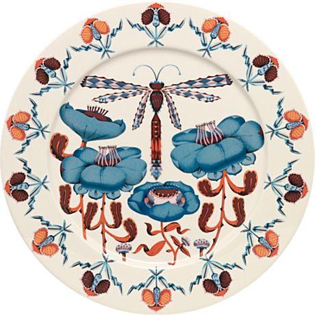 IITTALA - Dragonfly / Korento - Plate30 cmBlue -   Klaus Haapaniemi,Heikki Orvola
