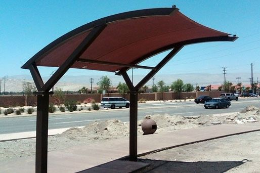 2-Post Eclipse Cantilever Shade Canopy | Designs For Shade®