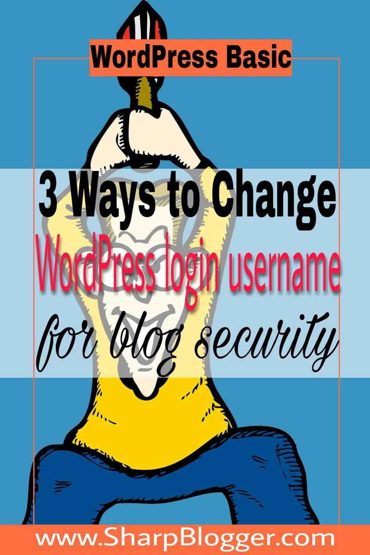 You don't want to allow hackers to hack your site. So you should change your WordPress login username as soon as possible after installing WordPress.