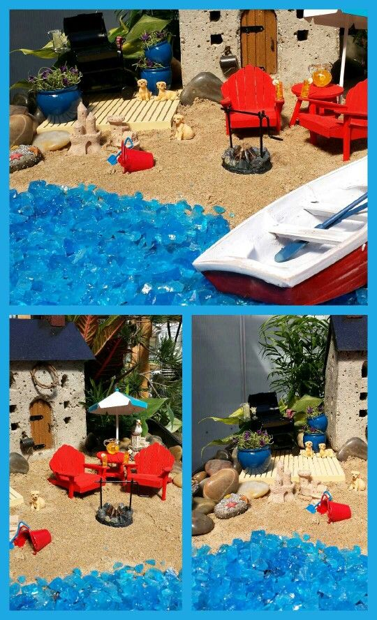 Beach theme fairy garden!