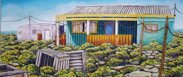 Gouache painting of the Abrolhos Islands by Janeen Horne - www.janeenhorneartist.com