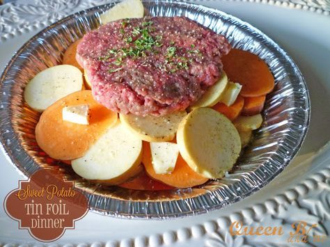 Queen B and Me: Sweet Potato Tin Foil Dinners