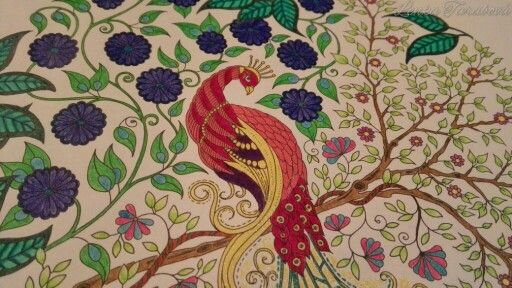 The Peacock from Secret Garden