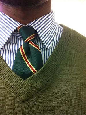 Shirt, tie, sweater..