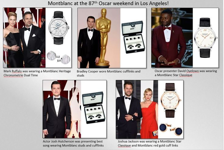 MontBlanc at the Oscars 2015