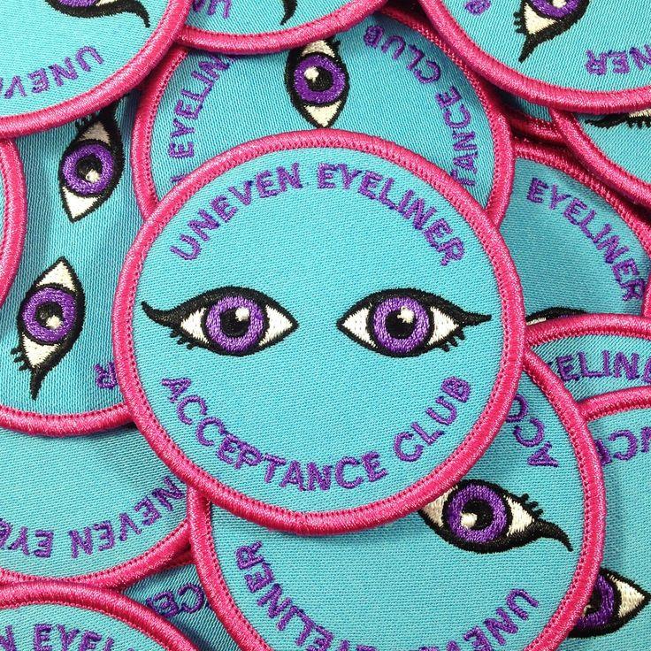 krystan saint cat — Uneven Eyeliner Acceptance Club Patch