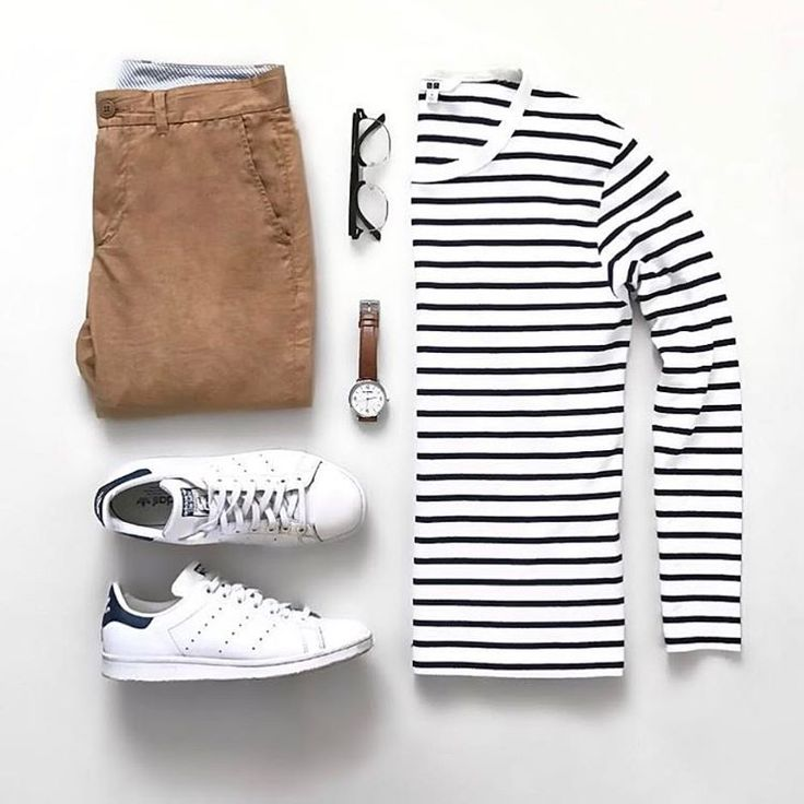 Outfit grid - Striped long sleeve T-shirt