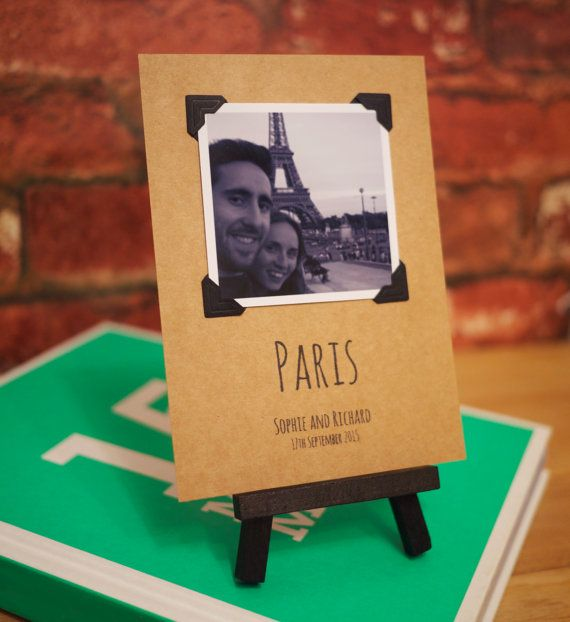 10 x modern photo polaroid style table number by SixpencePaperie