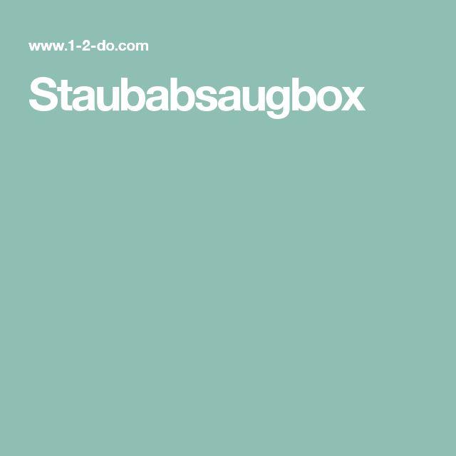 Staubabsaugbox