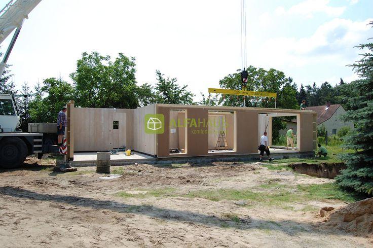 Montáž domu #drevostavby