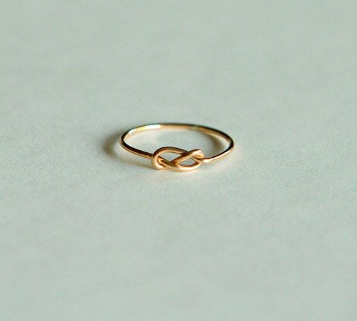 14kt gold rings: infinity knot, handcrafted jewelry, etsy jewelry, wedding band, engagement ring, solid gold ring, artisan on Etsy, $93.00