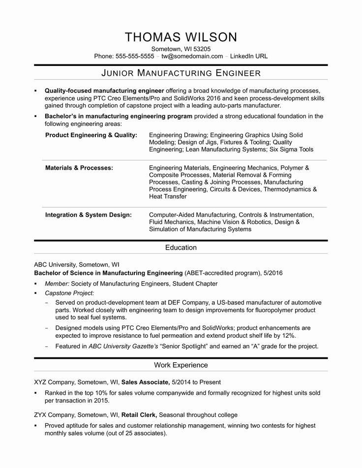 20 Entry Level Mechanical Engineering Resume in 2020