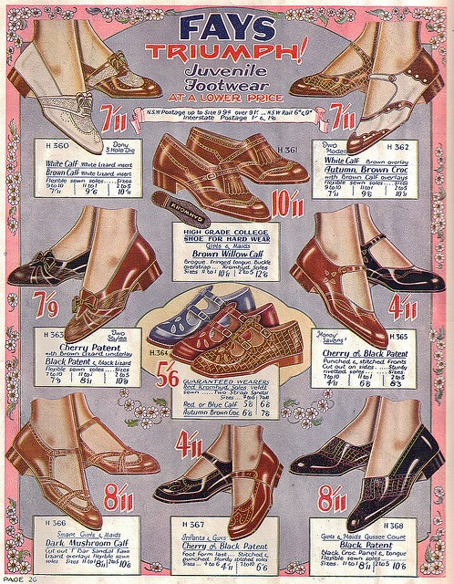 Fay's Shoe Catalogue 1932. #vintage #1930s #fashion #shoes