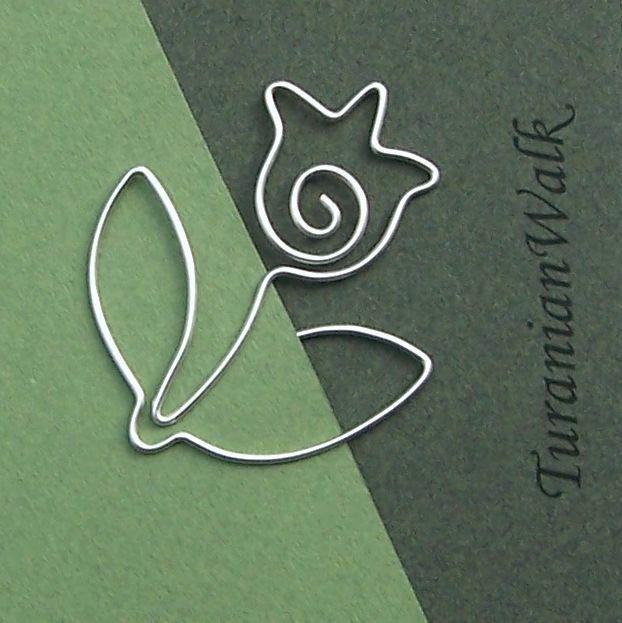 Tulip - wire bookmark. via Etsy.