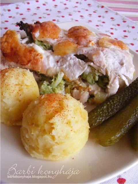 Barbi konyhája: Sajtos zöldséges csirkemell