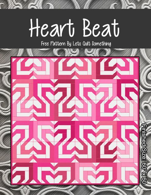 Heartbeat Free Quilt Pattern Jelly Roll Quilt Blocks