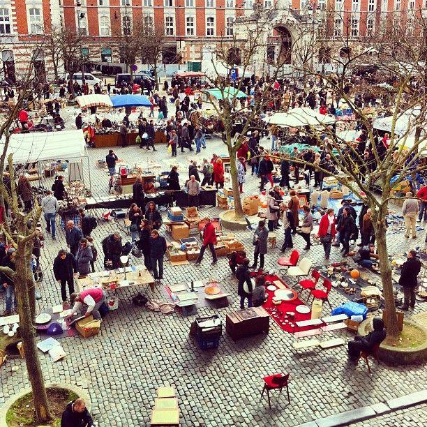 Place du Jeu de Balle / Vossenplein in Brussel, Brussels Hoofdstedelijk Gewest