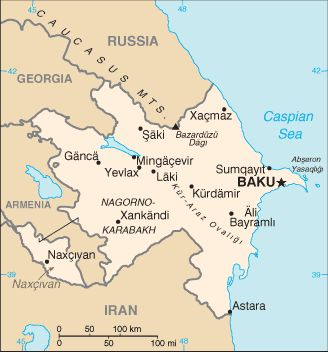 Country Maps: Azerbaijan Map