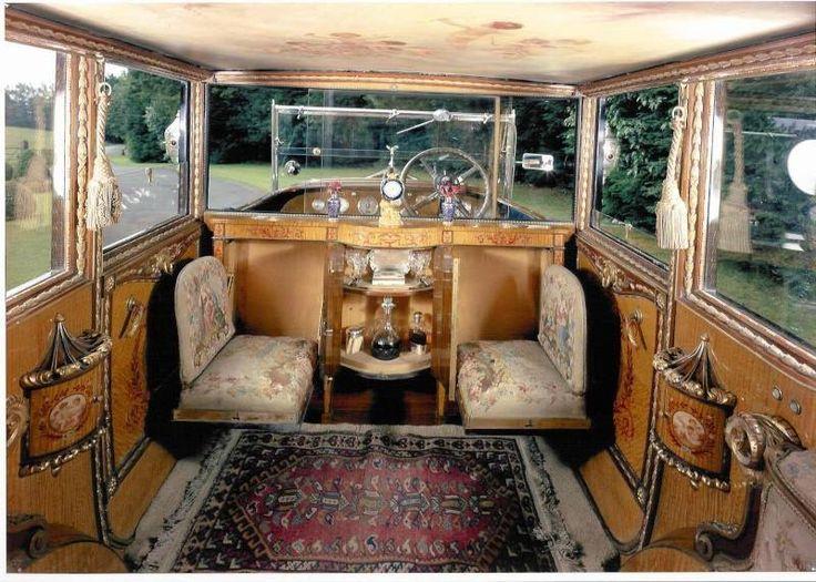 Interior of a Rolls Royce Phantom 1, 1926.