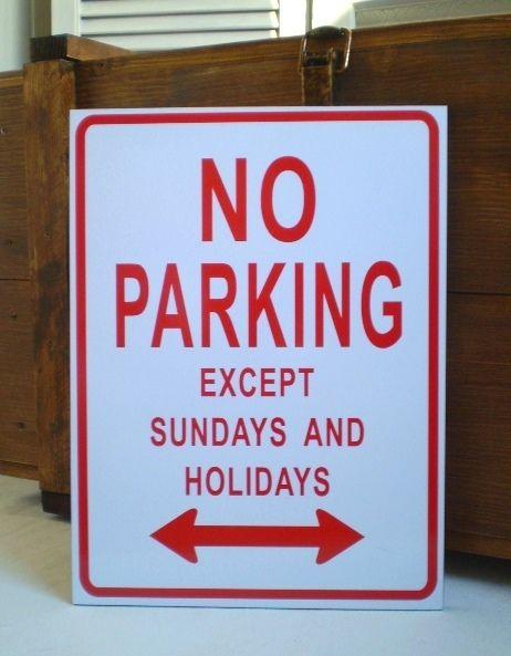Schild   NO PARKING  von Galerie-Artcat via dawanda.com