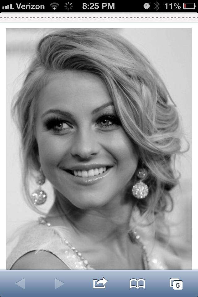 Bride's hair and earrings