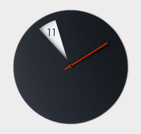 black freakishclock modern designer wall clock