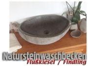 Waschbecken Flußkiesel / Findling