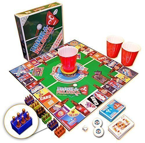 "DRINK-A-PALOOZA: The ""Monopoly"" of Drinking Games, Board Games, Party Games & Bachelorette Party Gifts featuring Kings Drinking Games, Beer Pong & Flip Cup DRINK-A-PALOOZA http://www.amazon.com/dp/B008RQ1PSK/ref=cm_sw_r_pi_dp_mOOUwb0QJNKNM"