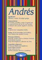 Andrés - Nombres, El significado de los nombres, Tu nombre, Tarjetas postales TuParada.com