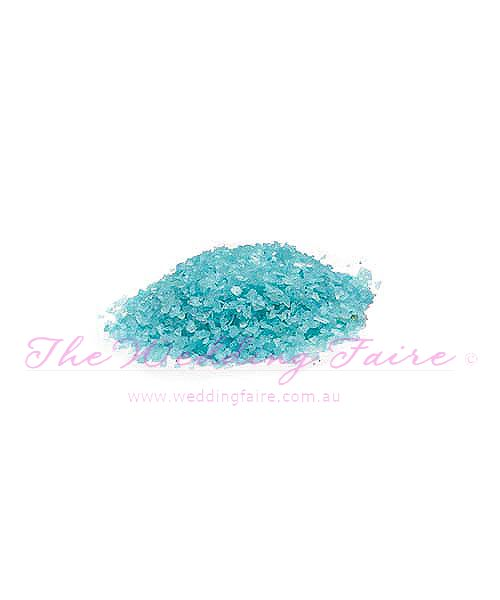 Crystalline Quartz Sand - Aqua Blue - The Wedding Faire