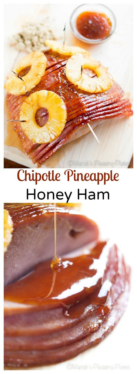 This smoked chipotle pineapple ham is an update on the classic honey glazed ham. It's sweet and smokey with just a hint of tang from the pineapple. Only 10 minutes of prep time!