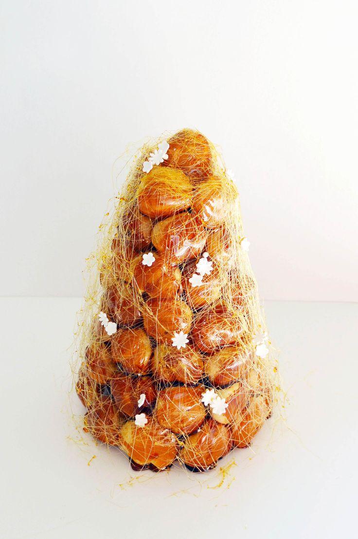 croquembouche with vanilla orange blossom pastry cream                                                                                                                                                                                 More