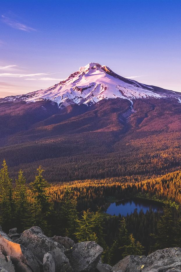 Mount Hood, Oregon; it's really hard to believe that places like this exist. Like something out of an artist's painting. But then...that's where the artists get their paintings from, isn't it?