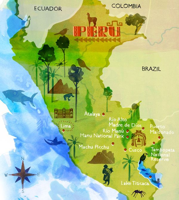 Image result for geography map with peru