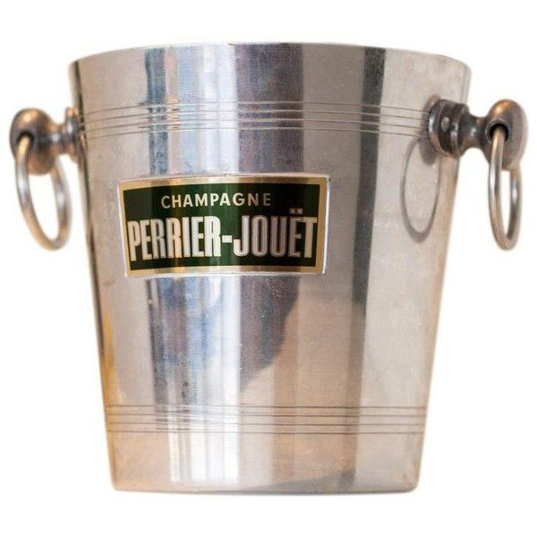 Perrier Jouet French Champagne Bucket ($80) ❤ liked on Polyvore featuring home, kitchen & dining, bar tools, ice buckets and aluminum ice bucket