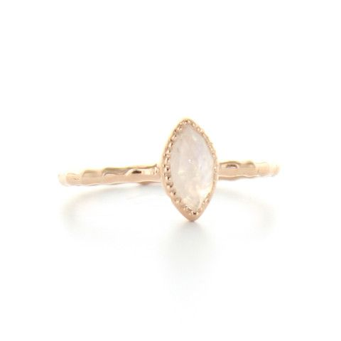 MINI TRUST MARQUISE RING - MOONSTONE & ROSE GOLD | Buy So Pretty Jewelry Online & In Stores