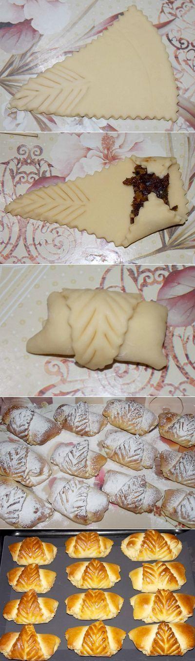 Elmalı milföy puaça ( milföy / kurabiye hamurundan)