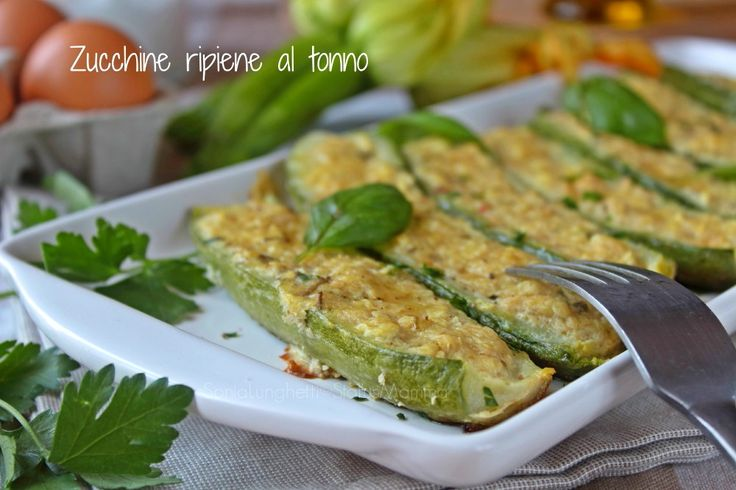 zucchine ripiene ricetta antipasto secondo facile gustoso con tonno