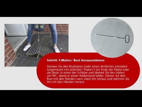 Aco Schuhabstreifer Reinigen Youtube Reinigen Hochbau