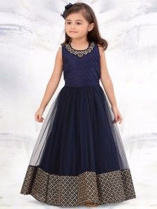 Shop G3 Exclusive navy net party wear gown online from G3fashion India. Brand - G3, Product code - G3-GGO0325, Price - 3295, Color - Navy, Fabric - Net,