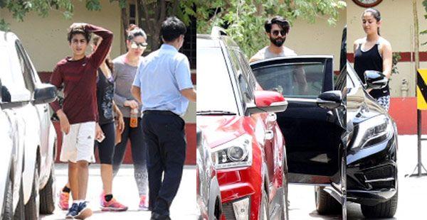 Kareena Kapoor Khan, Shahid Kapoor, Mira Rajput, Amrita Arora Ladak sweat it out together at the gym – view HQ pics #FansnStars