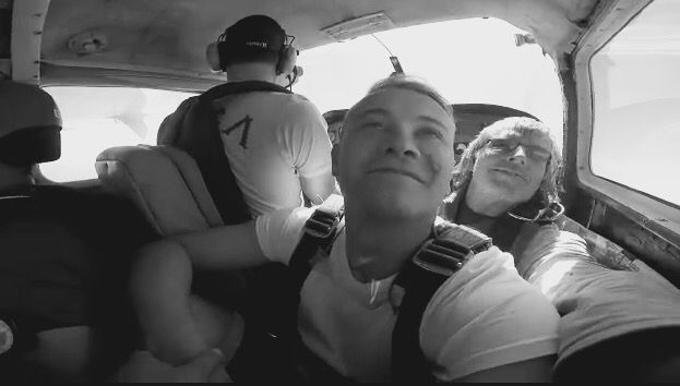 Skydiving with my beaver