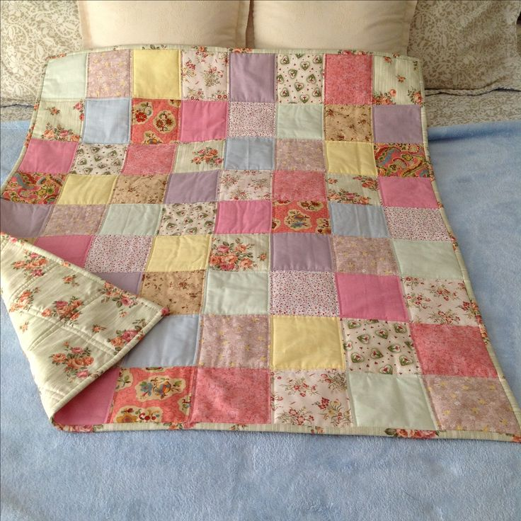 Cot quilt made by me & sold 2017