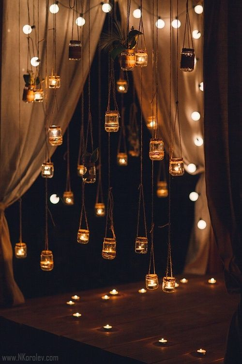 ночная церемония в стиле Рустик