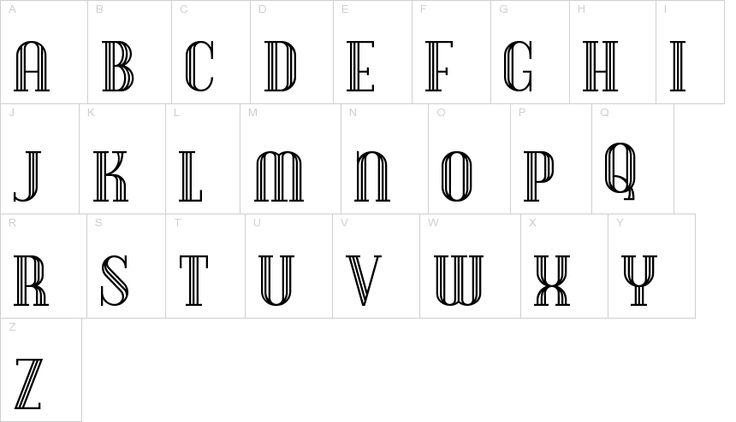 Debonair Inline font | ActionFonts.com