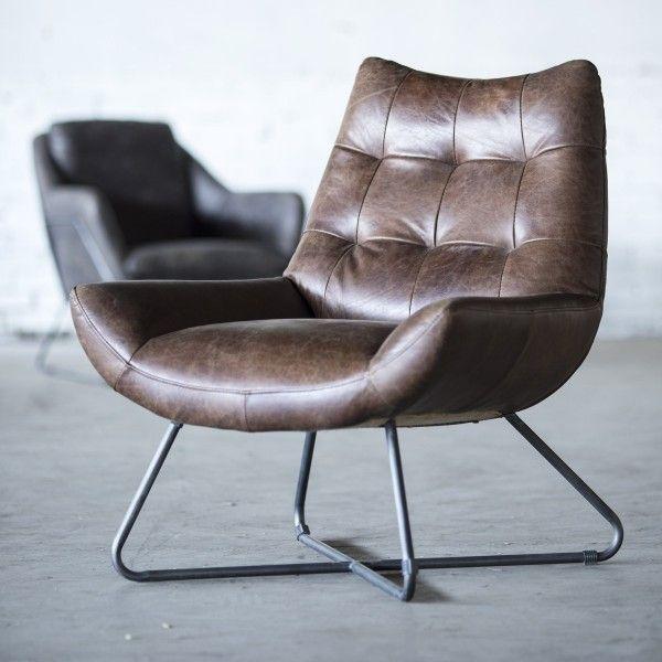 Fauteuil Pedro - Donkerbruin Vintage Leder - Fauteuils  - Sfeer.nl, meubelen en woonaccessoires