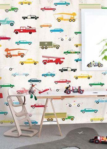 Onszelf Kids Wallpaper Panels- Cars & Trucks OZ3159 by Onszelf | JUST KIDS WALLPAPER™